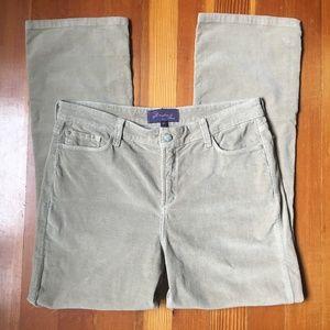 NYDJ Light Tan Corduroy Straight Leg Jeans 14
